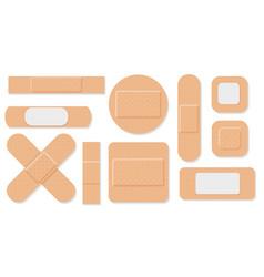 medical plasters set vector image