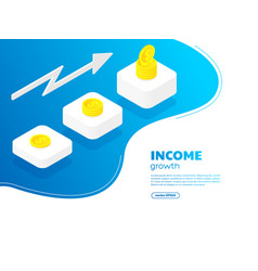 money growth concept with golden coins vector image