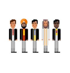 multiethnic team in business suits vector image