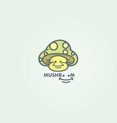 mushroom character vector image