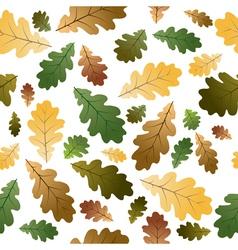 Oak leafs texture vector