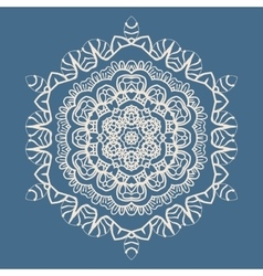 Outlined Mandala Background for greeting card vector image