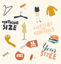 oversize clothes set creative ornament fabric vector image