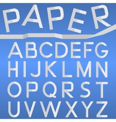 Paper font vector image