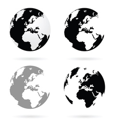 planet earth atlas set vector image