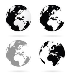 planet earth atlas set vector image