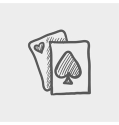 Playing card sketch icon vector image
