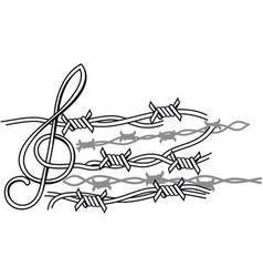 Prison music vector