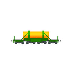 railway tank for transportation of petroleum vector image