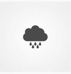 rain icon sign symbol vector image