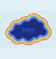rainbow cloud with text space vector image