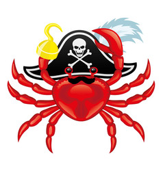 red crab pirate vector image