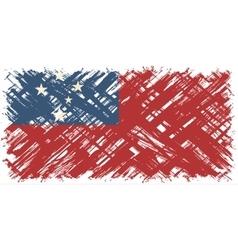 Samoa grunge flag vector