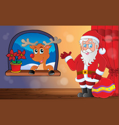 santa claus indoor scene 9 vector image