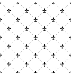 Seamless black and white pattern with king vector image