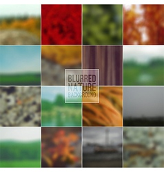 Set blurred backgrounds landscape summer vector