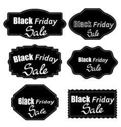 Set of Different Dark Stickers vector image
