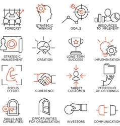 Set of icons related to business management - 2 vector