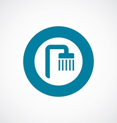 Shower icon bold blue circle border vector
