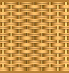 Simple woven wicker texture light brown vector