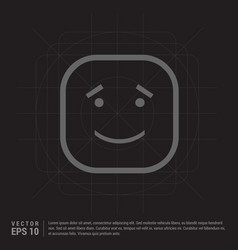 Smiley icon face icon vector