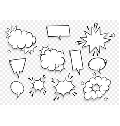 Speech bubble for comic text isolated background vector