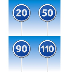 Speed traffic road board vector