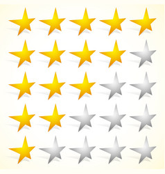star rating element with perspective on stars vector image