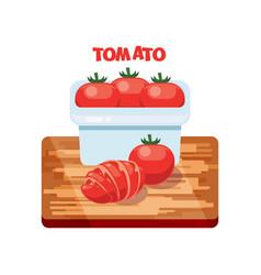 Tomato flat design vector
