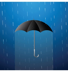 umbrella in rain vector image