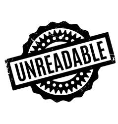 Unreadable rubber stamp vector