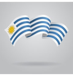 Uruguayan waving Flag vector