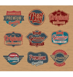 Vintage retro label badges - design element vector image