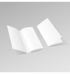 White Trifold Brochure Leaflet Zigzag Folded Flyer vector