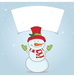Winter label with Christmas motifs vector