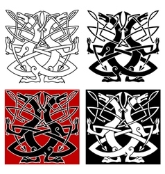 Dog or wolf celtic pattern vector image vector image