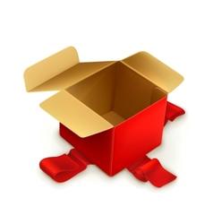 Empty gift box vector image vector image