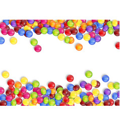 frame of candies with a white background vector image