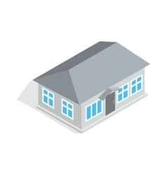 Gray house icon isometric 3d style vector image