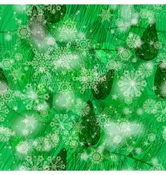 Grunge green winter seamless pattern vector image