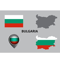 Map of Bulgaria and symbol vector image