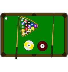 Pool table vector image vector image