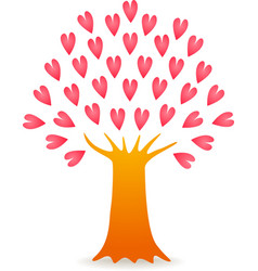 tree love pink vector image