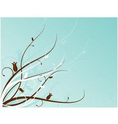 aqua floral motif vector image vector image