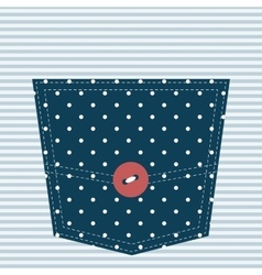 Blue textured pocket vector