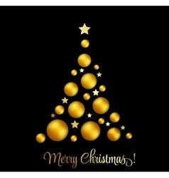 Christmas tree greeting vector image