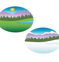 summer winter seasons vector image vector image