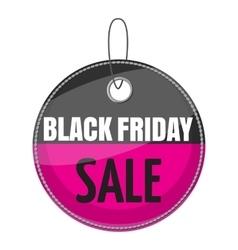 Tag black friday sale icon cartoon style vector image vector image