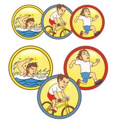Triathlon Mascot vector image