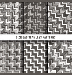 diagonal zigzag line seamless pinstripe vector image vector image